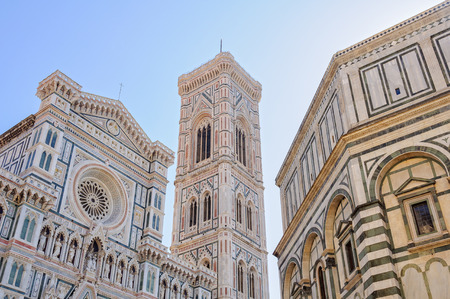 Cathedral (Duomo), Bell Tower (Campanile) and Baptistery (Battistero) - Florence, Tuscany, Italy
