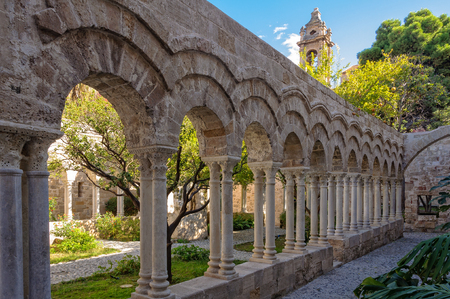 st  joseph: Cloister of the Church of St. Joseph of the Hermits - Palermo, Sicily, Italy Stock Photo