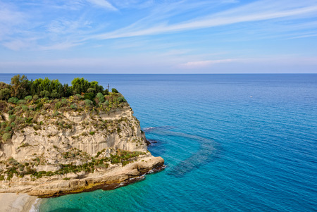 Cross on the edge of Santa Maria Island facing the Tyrrhenian Sea - Tropea, Calabria, Italy