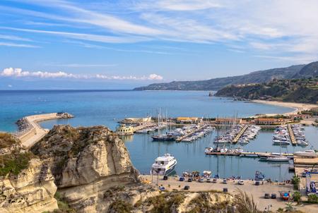 tyrrhenian: The Tourist Port of Tropea is a beautiful marina on the Tyrrhenian Coast - Calabria, Italy, 24 October 2011