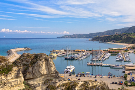 The Tourist Port of Tropea is a beautiful marina on the Tyrrhenian Coast - Calabria, Italy, 24 October 2011