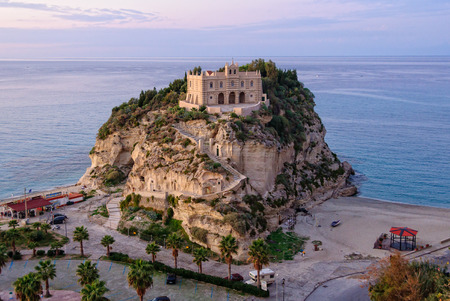 Former 4th century monastery on top of the Sanctuary of Santa Maria Island - Tropea, Calabria, Italy Editorial
