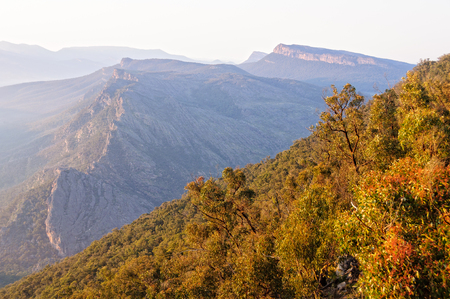 Wonderland Range at sunrise photographed from the Boroka Lookout - Grampians, Victoria, Australia