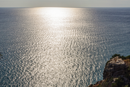 maratea: Backlit Tyrrhennian Sea - Maratea, Basilicata, Italy