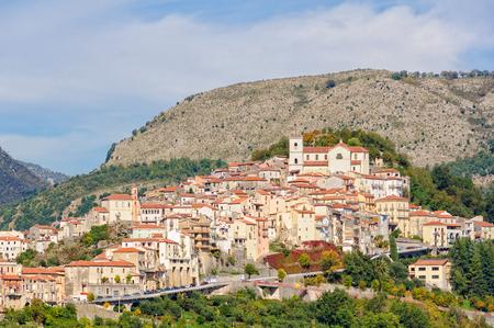 tyrrhenian: Rivello is a charming medieval village in a scenic position high above the Tyrrhenian sea - Basilicata, Italy