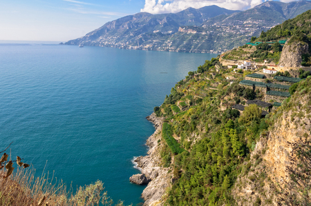 tyrrhenian: The beautiful Tyrrhenian Sea at the Amalfi Coast, Campania, Italy