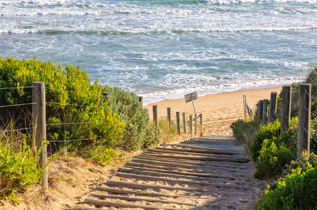 lonsdale: Steps to the surf beach at Point Lonsdale, Victoria, Australia