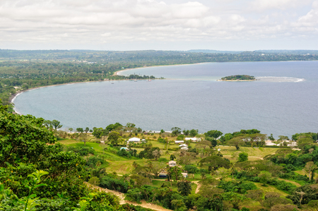 Mele Bay and the Hideaway Island photographed from The Summit Gardens - Port Vila, Efate Island, Vanuatu
