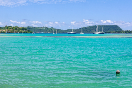 Yachts and tall ships on anchor in Vila Bay - Port Vila, Efate Island, Vanuatu
