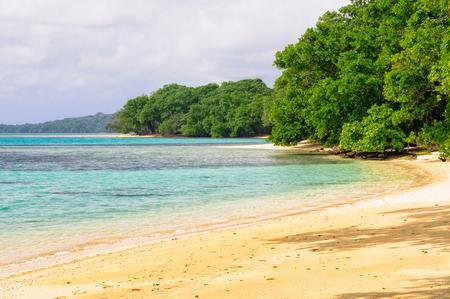 One of the many beautiful secluded sandy beaches around Saraoutou - Espiritu Santo, Vanuatu