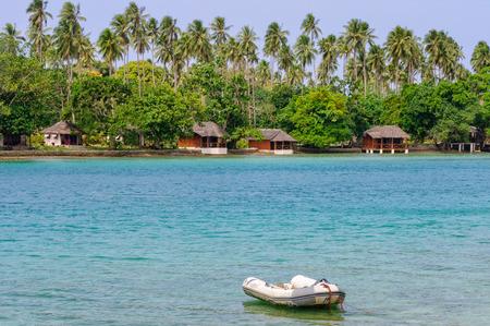 beachfront: Beachfront bungalows of Oyster Island Resort - Espiritu Santo, Vanuatu