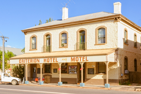The Criterion Hotel Motel does not seem to have  changed much since 1880 - Quorn, SA, Australia, 9 February 2013