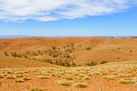 View from the Stokes Hill Lookout in Wilpena Pound - Flinders Ranges, SA, Australia