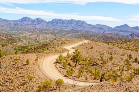 Bunyeroo Valley 전망대 Wilpena Pound - Flinders Ranges, SA, 호주 스톡 콘텐츠 - 85343988