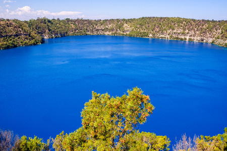 The Blue Lake in a dormant volcanic maar - Mount Gambier, SA, Australia