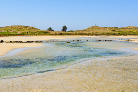 Shallow water between Griffiths Island and the mainland - Port Fairy, Victoria, Australia