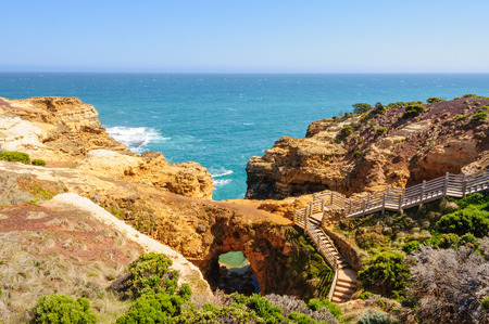 The Grotto is a natural cave about halfway between the sea level and the top of the cliff - Port Campbell, Victoria, Australia