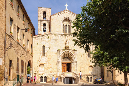 Church of Notre Dame du Puy used to be a Cathedral, the seat of the Bishop of Grasse, France