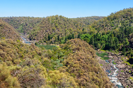 Cataract Gorge Reserve is a little patch of wilderness just 15 minutes walk from the city centre - Launceston, Tasmania, Australia Banco de Imagens