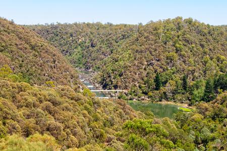 백내장 협곡 (Cataract Gorge)과 1 차 유역 (First Basin)은 도심에서 도보로 15 분 거리의 황야의 작은 패치입니다 - Launceston, Tasmania, Australia