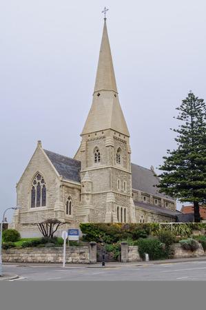 St Lukes Anglican Church on an overcast day - Oamaru, South Island, New Zealand