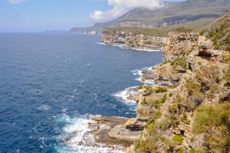 View from the Devils Kitchen Lookout - Eaglehawk Neck, Tasmania, Australia Reklamní fotografie