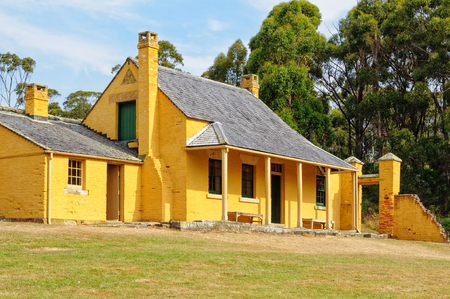 William Smith O'Brien's Cottage at the Port Arthur Historic Site - Tasmania, Australia, 7 February 2014 Editoriali