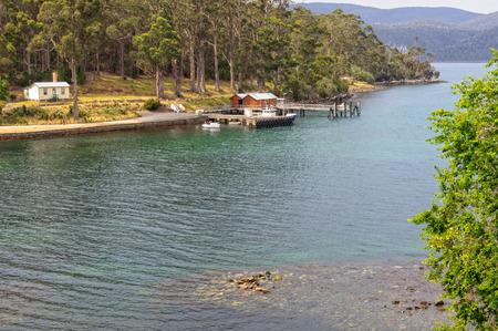 View from the Guard Tower at the Picture of Port Arthur Historic Site - Tasmania, Australia Archivio Fotografico