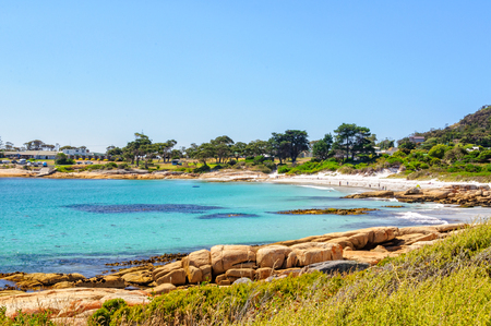 Bicheno on the beautiful East Coast, north of the Freycinet Peninsula, is a popular family seaside holiday town - Tasmania, Australia