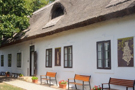 This old peasant house used to host the village school - Szigliget, Hungary Editorial