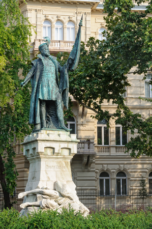 Statue of Mikl�s Zr�nyi (1508�1566), Defender of the Kingdom of Hungary against the Ottomans - Budapest, Hungary Redakční