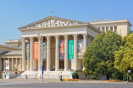 The main entrance of the Museum of Fine Arts before its closure for renovation - Budapest, Hungary, 1 September 2011