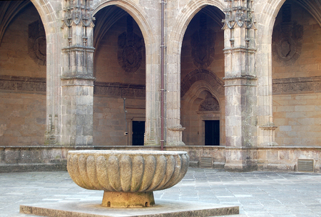 Fons Mirabilis in the Cloister on the second floor of the Cathedral - Santiago de Compostela, Galicia, Spain