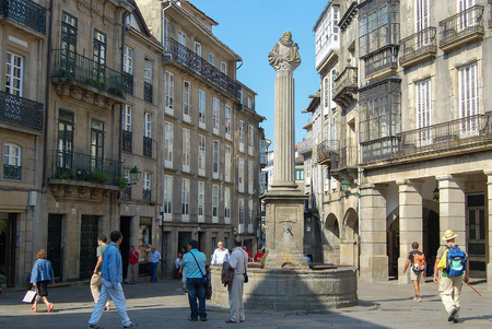 Praza de Cervantes in the northern part of the historic center of the city used to be one of the main meeting places in medieval time - Santiago de Compostela, Galicia, Spain1513 Cervantes Square - Santiago de Compostela, 2007