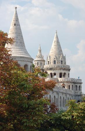Fisherman's Bastion is een van de meest bezochte site van Boedapest, Hongarije Stockfoto
