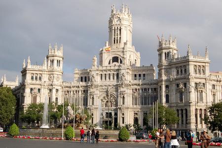 The Cibeles Palace Palacio De Cibeles Or The Palace Of Communication