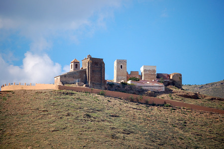 Aloras castle was originally built by the Phoenicians but the current remnants are Moorish - Malaga, Andalusia, Spain