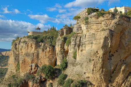 Cliffs of the El Tajo Gorge - Ronda, Andalusia, Spain Stock Photo