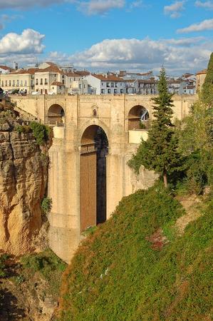 The New Bridge (Puente Nuevo) high above the El Tajo Gorge - Ronda, Andalusia, Spain Stock Photo