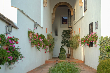 Passage between the house and the garden of the Mondragon Palace (Palacio) - Ronda, Andalusia, Spain, 31 October 2007