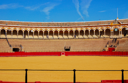 Plaza de Toros de la Maestranza, the famous bullring of Seville - Andalusia, Spain, 29 October 2007