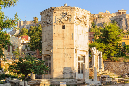 Tower of the Winds, an octagonal Pentelic marble clocktower in the Roman Agora, is considered the worlds first meteorological station - Athens, Greece