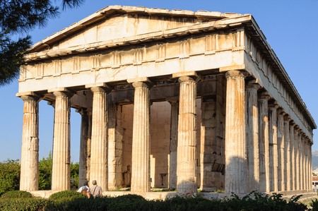 Temple of Hephaestus (Theseion) at the north-west side of the Agora - Athens, Greece Archivio Fotografico - 100465700