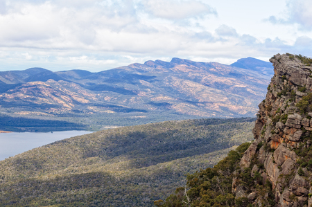 View from the Pinnacle Lookout in the Grampians National Park - Halls Gap, Victoria, Australia Stock Photo