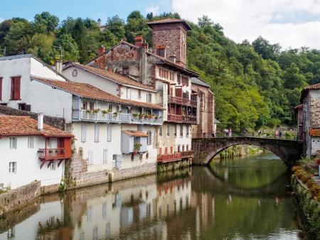 Nive River and the St James Bridge - Saint Jean Pied de Port, France