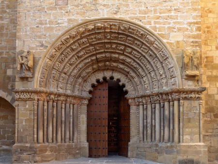 Portal of the Church of Santiago - Puente la Reina, Navarre, Spain