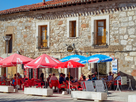 Bar Marcela is a popular dining place for pilgrims on the Camino - San Juan de Ortega, Castile and León, Spain, 11 September 2014