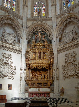 Condestable chapel (capilla) of the Cathedral of Saint Mary - Burgos, Castile and Leon, Spain Editoriali