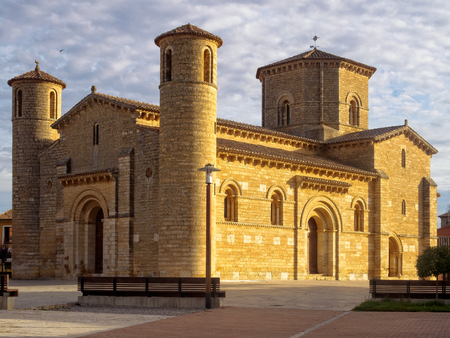 The Romanesque Church of Saint Martin lit by the morning sun - Fromista, Castile and Leon, Spain