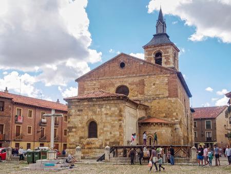 Church of Our Lady of the Market (Iglesia de Nuestra Señora del Mercado) in the historical center on the Santa Maria del Camino Square (Plaza), also known as Grain square - Leon, Castile and Leon, Spain, 20 September 2014